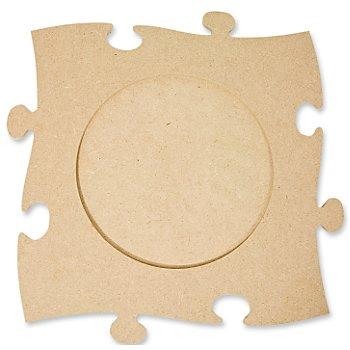 MDF-Puzzle-Bilderrahmen 'Rund', 24 x 24 cm