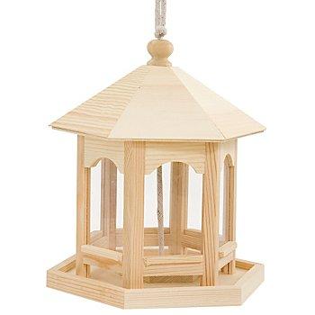Vogelfutterhaus aus Holz, 19 x 16,5 x 22 cm