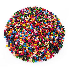 Holzperlen-Mix, klein, 3 mm Ø, 50 g