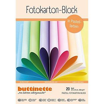 Mega-Fotokarton-Block, Pastellfarben, 24 x 34 cm, 20 Blatt