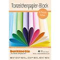 Mega-Tonzeichenpapier-Block, Pastellfarben, 24 x 34 cm, 40 Blatt
