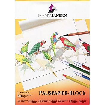 Pauspapierblock, DIN A4, 50 Blatt