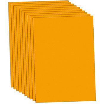 Carton teinté orange, 50 x 70 cm, 10 feuilles