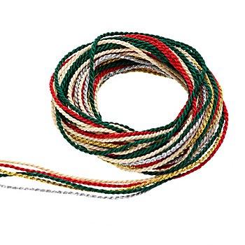 Set de cordelettes 'Noël', 2 mm, 5x 2 m