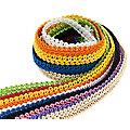 """buttinette Set de galons de passementerie """"multicolore"""", 10 mm, 10x 0,5 m"""