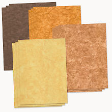 Set de papier de soie, chamois/coco/terre cuite/marron foncé, 22,5 x 32,5 cm, 12 feuilles