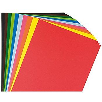 Tonzeichenpapier, bunt, 21 x 29,7 cm, 100 Blatt