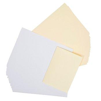 Feuilles intercalaires doubles, blanc/crème, 146 x 208 mm, 50 pièces