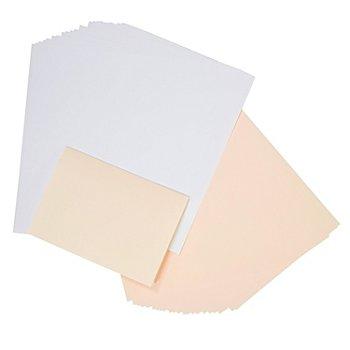 Feuilles intercalaires doubles pour cartes, blanc/crème, 208 x 294 mm, 50 pièces