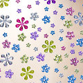 """Schmucksteine """"Blumen"""", pastell, 220 Stück"""