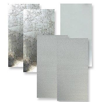 Wachsplatten 'Silbermix', 20 x 10 cm, 5 Stück