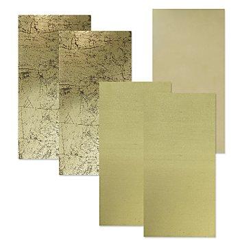 Wachsplatten 'Goldmix', 20 x 10 cm, 5 Stück