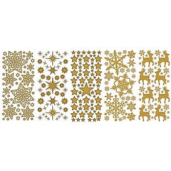 Klebesticker 'Weihnachten I', gold, 23 x 10 cm, 5 Bogen