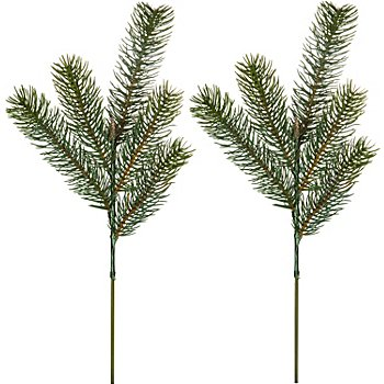 Hochwertige Tannenzweige, 38 cm, 2 Stück
