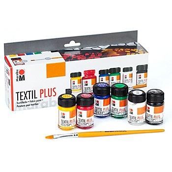 Marabu Stoffmalfarben-Set für dunkle Textilien, 6x 15 ml