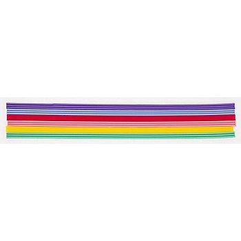 Verzierwachsstreifen, pastell, 20 cm, 18 Stück