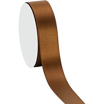 Satinband, braun, 25 mm, 10 m