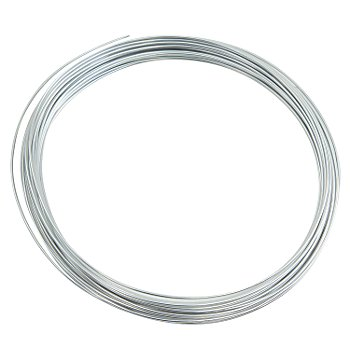 Fil métallique en aluminium, argenté, 1 mm Ø, 10 m