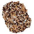 Rocailles-Perlen, Brauntöne, 2,5 mm Ø, 100 g