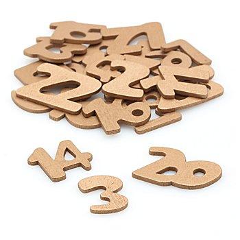 Adventskalender-Zahlen aus Holz, gold