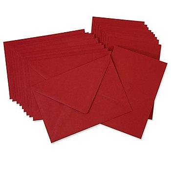 Set de 10 cartes doubles et enveloppes, bordeaux, A6/C6