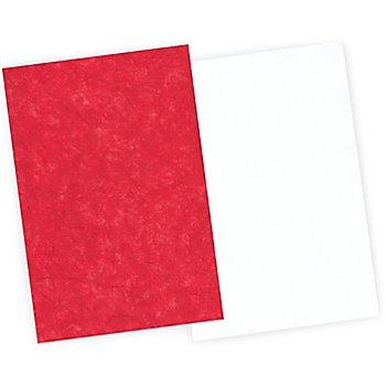 Faserseide-Set, rot-weiß, 22,5 x 32,5 cm, 12 Blatt
