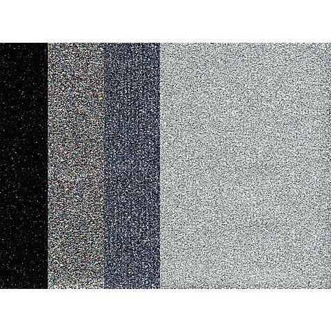Image of Bügelfolien, Silbertöne, 10,5 x 14,8 cm, 4 Bogen