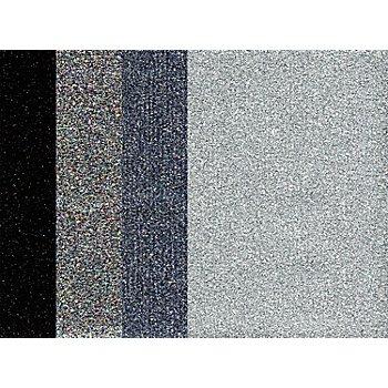 Bügelfolien, Silbertöne, 10,5 x 14,8 cm, 4 Bogen