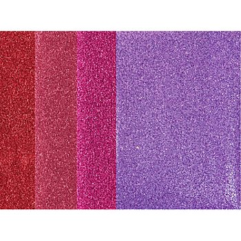 Bügelfolien, Rosatöne, 10,5 x 14,8 cm, 4 Bogen