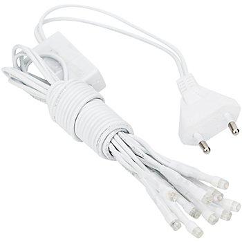 LED Lichterkette, 10 Birnchen, weiß, linear