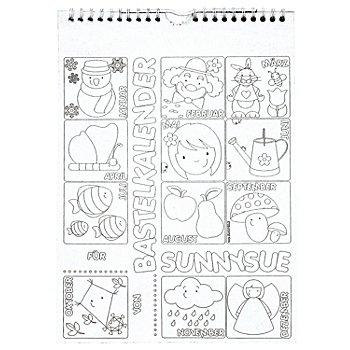 Kinder-Bastelkalender, weiss, 30 x 21 cm