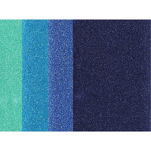 Image of Bügelfolie, Blautöne, 10,5 x 14,8 cm, 4 Bogen