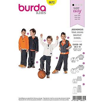 burda Patron 9672 'tenue jogging pour enfants'