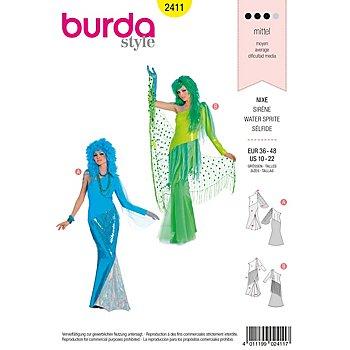 burda Schnitt 2411 'Nixe & Meerjungfrau'