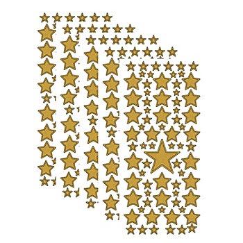 Klebesticker 'Sterne', gold, 23 x 10 cm, 5 Bogen