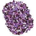 Perles de rocaille, violet/lilas/crème, 2,5 mm Ø, 100 g