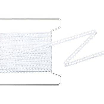 Ruban de dentelle, blanc, largeur : 10 mm, longueur : 5 m