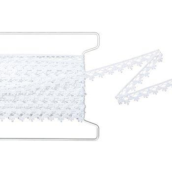Rustikale Klöppelspitze, weiß,  Breite 1,3 cm, Länge 5 m
