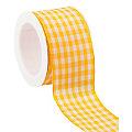 Stoff-Karoband, gelb, 40 mm, 5 m