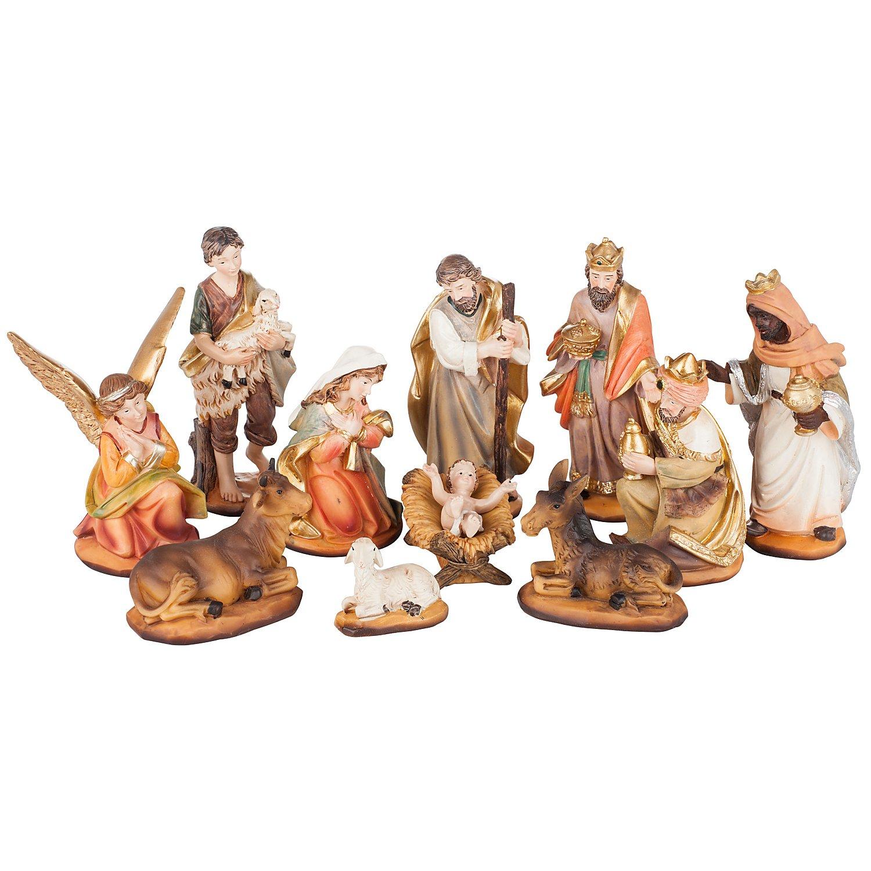 Krippen Markus Krippenfigur 2 Engel im Set für Figuren der Größe ca.10-11cm