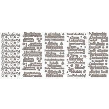 Klebesticker 'Schriften groß', silber, 23 x 10 cm, 5 Bogen