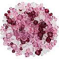 Facettierte Glasperlen, lila-rosa-transparent, 4 - 8 mm, 50 g