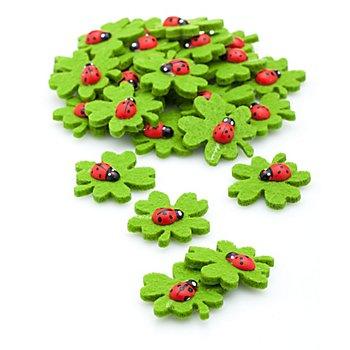 Streuteile 'Kleeblätter', 3,5 cm, 24 Stück
