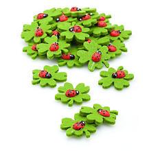 Motifs déco 'feuilles de trèfle', 3,5 cm, 24 pièces