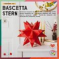 """Folia Papier transparent à plier """"étoile Bascetta"""", rouge, 20 x 20 cm, 32 feuilles"""