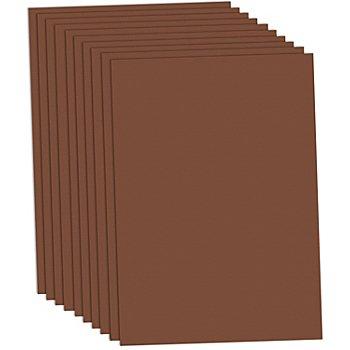 Carton teinté marron, 50 x 70 cm, 10 feuilles