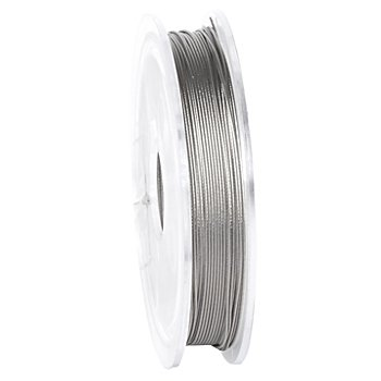 Edelstahl-Schmuckdraht, silber, 0,4 mm, 5 m