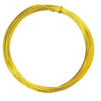 Aludraht, gold, 1 mm Ø, 10 m