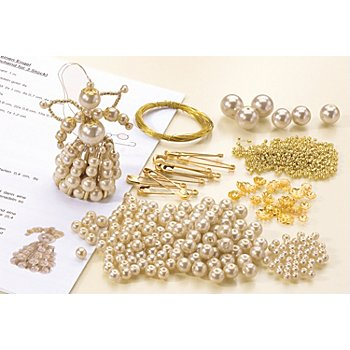 Perlenbastel-Set 'Engel', creme-gold