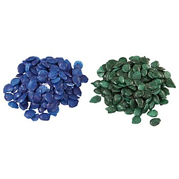 Färbepastillen, blau/grün